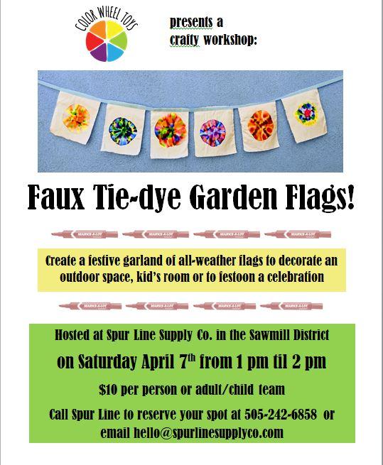 garden flag workshop