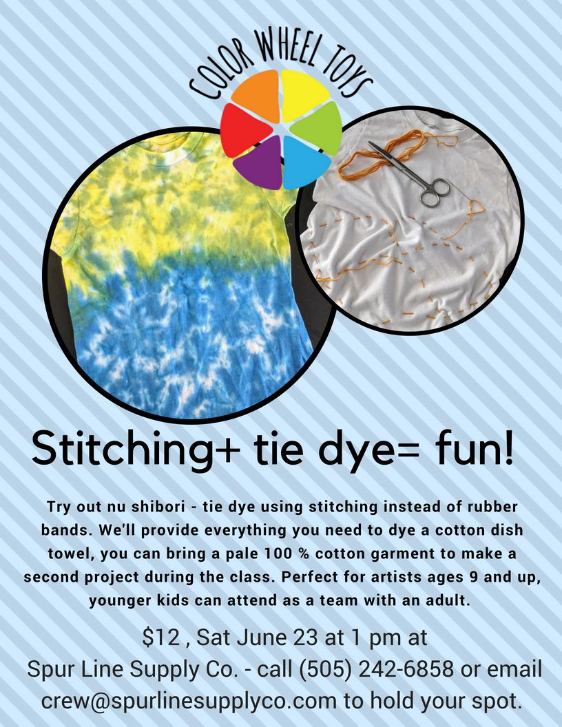 Stitching+ tie dye= fun!